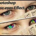 Rainbow eyes effect in Photoshop