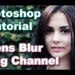 Lens Blur using Alpha channel in Photoshop