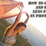 How to create and use lens flare in photoshop