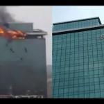 Fire at Lotus Business Park in Andheri (W), Mumbai.