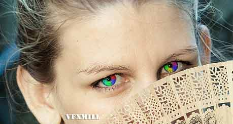 Rainbow eyes effect in Photoshop, Photoshop Tutorial, Online Photoshop,Rainboy-eye-effect-in-photoshop-After-vfxmill